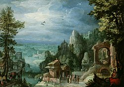 Anthonie Mirou - Extensive Landscape with the Rest on the Flight into Egypt - WGA16046.jpg