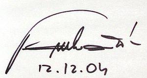 Antonín Panenka - Signature of Antonín Panenka (2004)