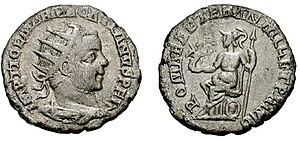 Kostolac - Viminacium mint by Antoninianus to celebrate the 1001 birthday of the Roman Empire. 248 AD.