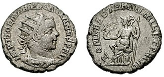 Pacatianus - The obverse of this antoninianus celebrates Pacatianus as undefeated, while the reverse celebrates the 1001st birthday of Rome.