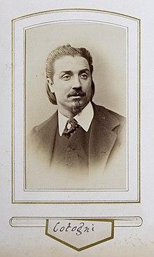Fotografia de Antonio Cotogni na década de 1860