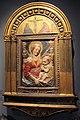 Antonio rossellino, madonna col bambino in stucco, con lunetta anteriore di niccolò gerini (crocifissione), coll. privata 01.JPG