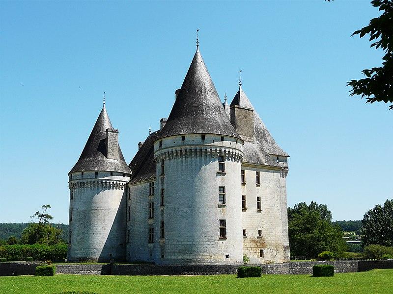 Le château des Bories vu depuis le nord-ouest, Antonne-et-Trigonant, Dordogne, France