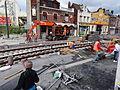 Anzin & Valenciennes - Travaux de raccordement des lignes A & B du tramway de Valenciennes à la Croix d'Anzin le 19 août 2013 (21).JPG