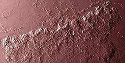 Mons Ampère har set i infrarødt.