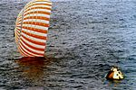 Apollo 4 Command Module in Pacific Ocean following splashdown.jpg