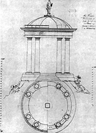 Georg Wenzeslaus von Knobelsdorff - Design for the Apollo Temple in Neuruppin