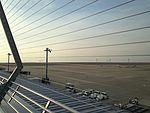 Apron and Ise Bay from Chubu Centrair International Airport 20150125-4.JPG