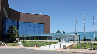Arapahoe County, Colorado - The contemporary Arapahoe County Courthouse in Dove Valley.