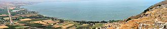 Mount Arbel - Panoramic view of the Sea of Galilee from the Mountain
