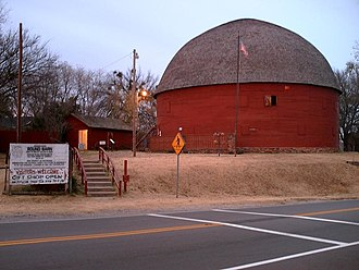 U.S. Route 66 in Oklahoma - The Round Barn in Arcadia