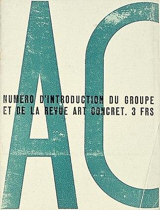 Concrete art - Revue Art Concret, May 1930.