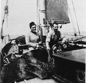 Robert Erskine Childers - Robert and Molly aboard Asgard on a Baltic cruise, 1910