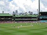 Cinzas wicket.jpg último 2010-11 Teste Sydney