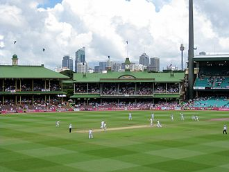 2015 Cricket World Cup - Image: Ashes 2010 11 Sydney Test final wicket