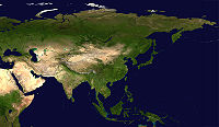 L'Asia dal satellite