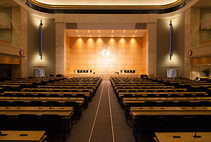 World Health Assembly - The World Health Assembly meets in the assembly hall of the Palace of Nations, in Geneva (Switzerland).