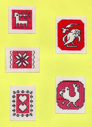 Assisi embroidery - Image: Assisi Sampler