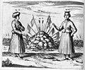 "Athanasii Kircheri... China monumentis (1667) ""Alius habitus viri Aulici; Trophaea...; Habitus viri Aulici sub habitu Foemineo"" (22467058510).jpg"