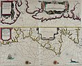 Atlas maritimus, or A book of charts - Describeing the sea coasts capes headlands sands shoals rocks and dangers the bayes roads harbors rivers and ports, in most of the knowne parts of the world. (14566782188).jpg