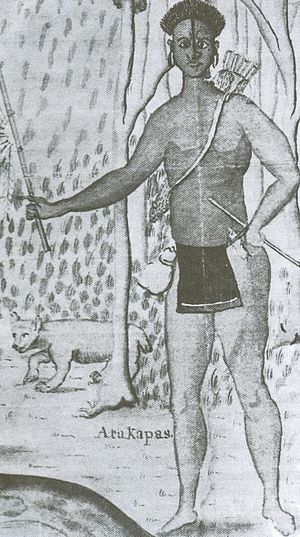 Atakapa - Detail from a drawing by deBatz, 1735