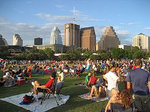 Auditorium Shores in Austin, Texas