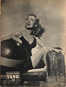 Audrey Totter pin-up from Yank, The Army Weekly, August 1945.jpg