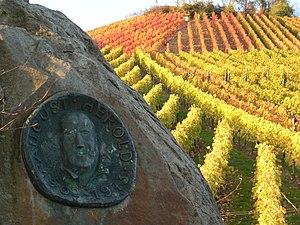 Neckarsulm - August Herold memorial plate in the wine yards