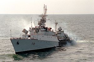 Lithuanian Naval Force - Frigate F12 Aukštaitis in 1993.