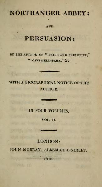 File:Austen - Northanger Abbey. Persuasion, vol. II, 1818.djvu
