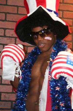 Xavier Woods - Watson as Consequences Creed posing in October 2007