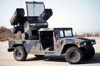 AN/TWQ-1 Avenger - An Avenger air defense missile system.