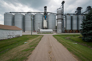Ayr, North Dakota - Grain equipment in Ayr