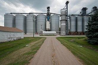 Ayr, North Dakota - Grain equipment in Ayr