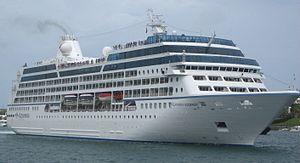 Azamara Journey - Azamara Journey in her previous livery, as seen at leaving Hamilton, Bermuda in August 2007