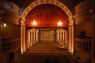 European Route of Historic Theatres - Stage of the Ekhof Theatre