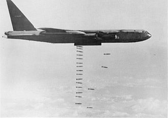 93d Air-Ground Operations Wing - A B-52D drops 500 pound bombs