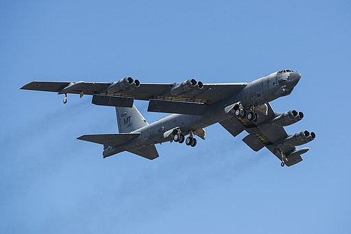B-52H Stratofortress takes off after being taken out of long term storage