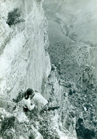 Barbara Morgan (photographer) - Morgan painting the Grand Canyon in 1928. Photograph by Willard Morgan
