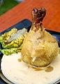 BBQ Dumpling with Handle, Sparkling Wine Cheddar Sauce (Gastrohack x Füstölgő Sarok BBQ) (42171705352).jpg