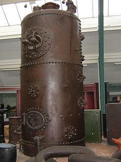 Vertical cross-tube boiler