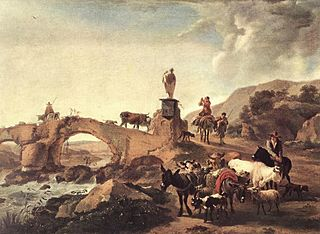 Italian Landscape with a Small Bridge