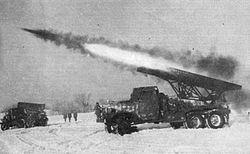 """Gardový raketomet """"Kaťuša"""" - Stalinovy varhany"""