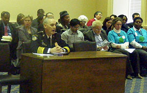 Baltimore City Delegation - Baltimore City Police Commissioner Fred Bealefeld responds to questioning from the delegation