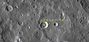Banachiewicz (crater) - Satellite craters of Banachiewicz