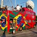 BandSports London 2012 bus (FTE 630B) 1964 Leyland Titan PD3 East Lancs, Cutty Sark, 26 July 2012.jpg