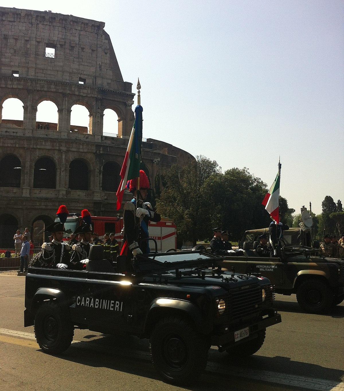 Decorazioni alla bandiera dell 39 arma dei carabinieri for Bandiera di guerra italiana