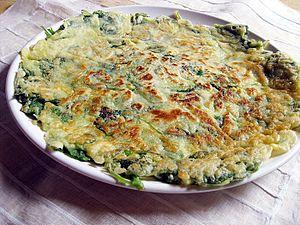 Buchimgae - Banga-buchimgae (Korean mint pancake)