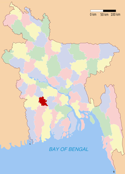 Location of Narail in Bangladesh