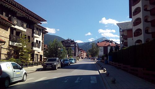 Bansko Town in Summer